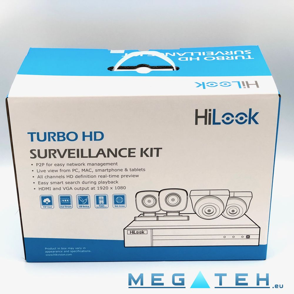 HiLook (Hikvision) TurboHD CCTV Kit  DVR with 4 Bullet
