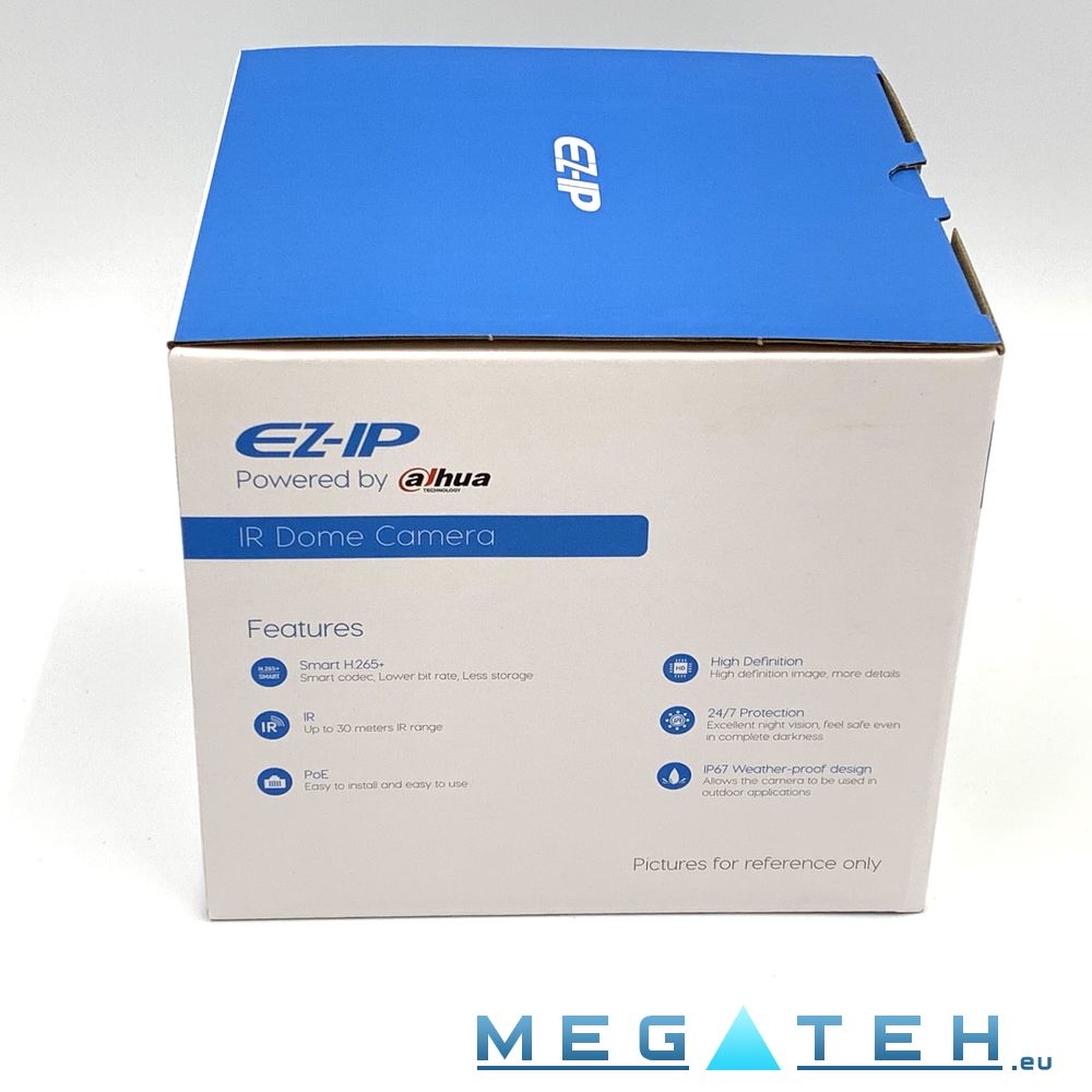 Dahua EZ-IP IPC-D2B40 Mini-Dome IP Camera 4MP, 2 8mm (101