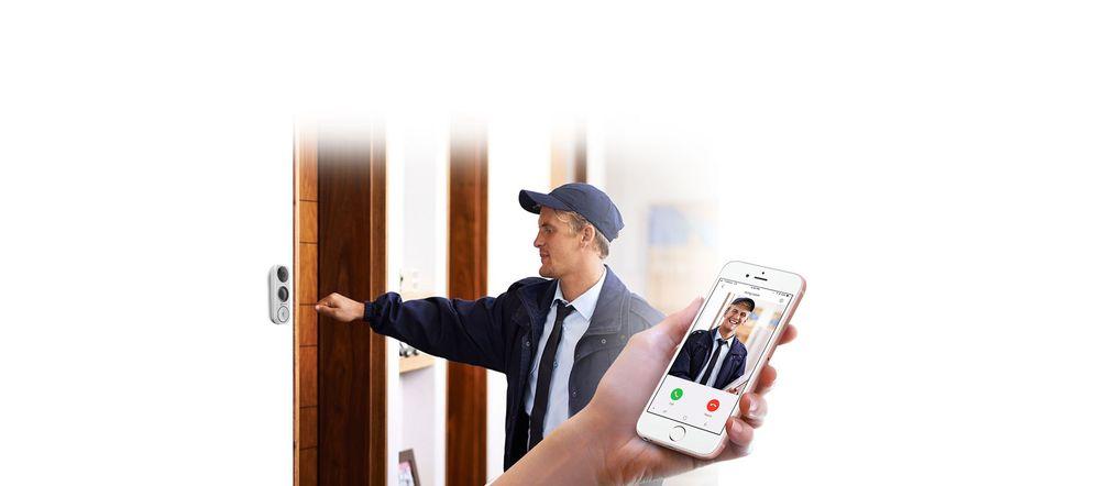 EZVIZ DB1 3MP Wi-Fi Video Doorbell, Human Detection, Night Vision